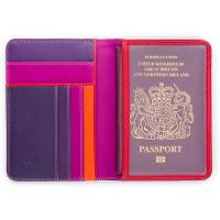 Mywalit|RFID|Passport|Cover|1433|Sangria Multi|Open|