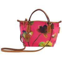 he Tannery|Roberta Pierir|Mini|Duffle|Flower|Ladies Mini Duffle|Canvas|Nylon|Leather trims|Leather|Ladies Handbag|Handbag|For Her|Paradise Pink