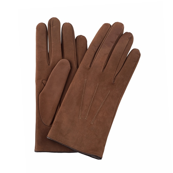 PArisi|Gloves|Nubuk|Gloves|Leather|Trim|Cashmere Lined|