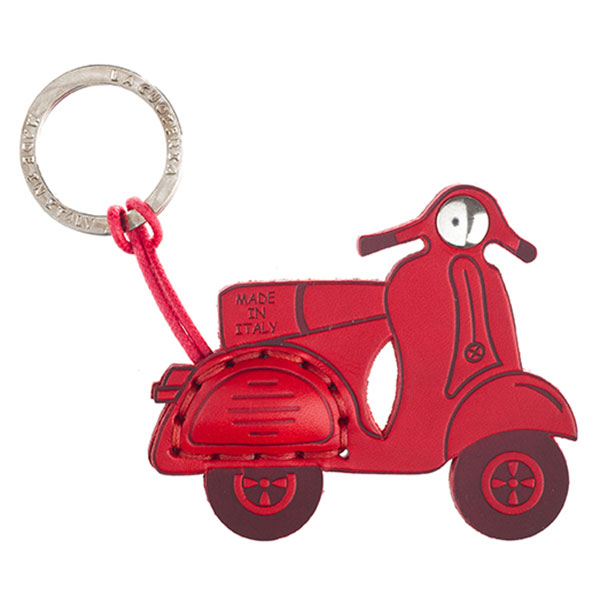 La Cuoieria|Accessories|Keyring|Scooter|Red|