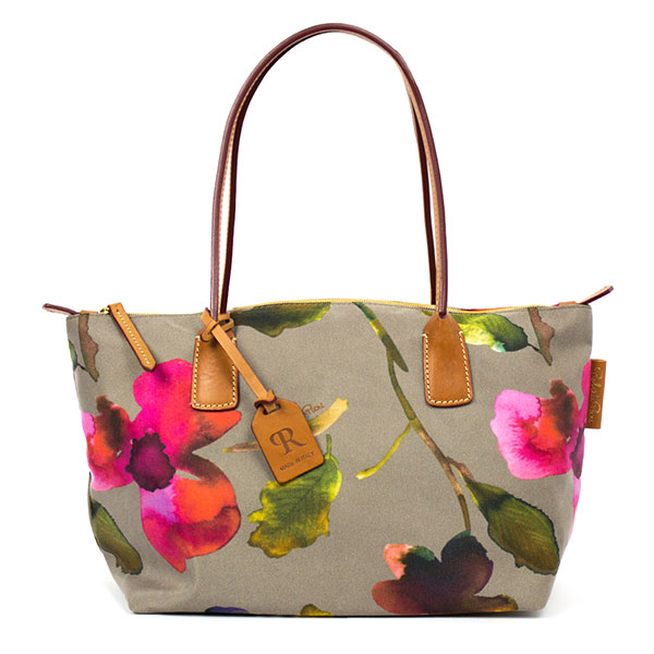 The Tannery|Roberta|Pieri|SS19|Flower|Small|Tote|Taupe|