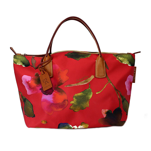 The Tannery|Roberta|Pieri|SS19|Robertina|Flower|Small|Duffle|Pompei Red|