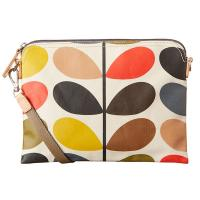 Orla Kiely|Travel Pouch|ladies bags|Linear Stem Print|classic stem print|Orla Kiely bags|laminated| The Tannery|Multi