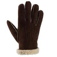 Shepherd|Melina|Sheepskin|Glove|Brown|Rolled|