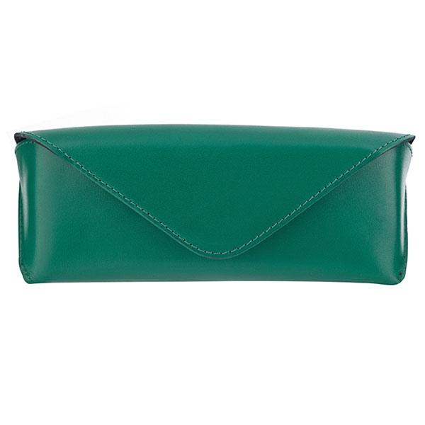 The Tannery|Glasses|Case|224|Calf|Emerald|