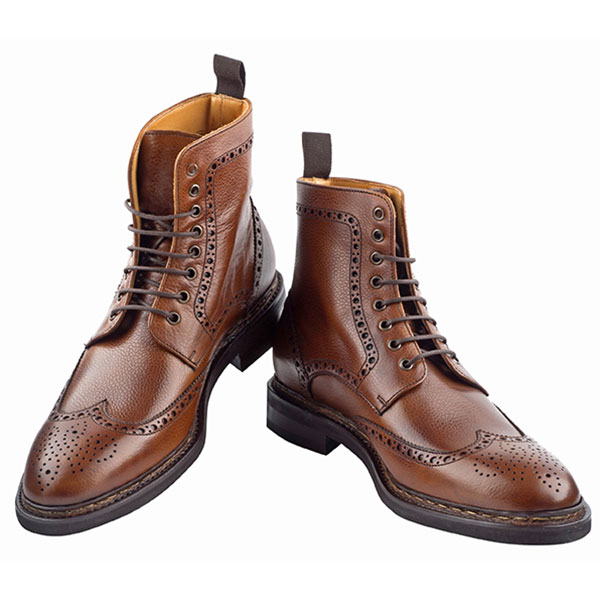 Brogue Ankle Boot 266 Chestnut b3b021216e