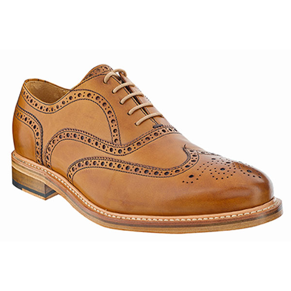 The Tannery|Berwick|Brogue Shoe|2817|Tan|Tan Brogues|Mens Shoes|Mens Brogues|Mens Leather Brogues|Leather Brogues| Leather Sole|