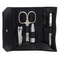The Tannery|Manicure Set|2836|Leather|Calfskin|Soft|Wrap Around|Wrap Manicure Set|Roll|Manicure Roll|Solingen Steel|Gift Ideas|Christmas|Gifts for Him|Gifts for Her|Accessories|Beauty|Grooming|Nail Care|Black