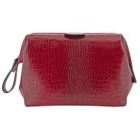 Hammann|Framed|Toiletry|Bag|3140004|Croc|Marsala|