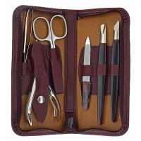 The Tannery|Manicure Set|3161|Leather|Gift Ideas|Gifts for Her|Gifts for Him|Christmas|Accessories|Beauty|Grooming|Leather|Calf|Leather manicure sets|Burgundy