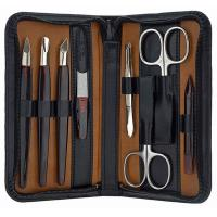 The Tannery|MAnicure Set|L3162|Leather|Zip around|Beauty|Grooming|Nail Care|Gift Ideas|Christmas|Gifts for Him|Gifts for Her|Accessories|Solingen Steel|Black