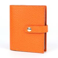 Laurige|Credit Card|Holder|(759)|ladies leather credit card case|orange leather|larger credit card case|
