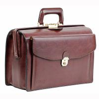 Texier|Briefcase|819|affaire|brown|doctors bag|leather doctors bag|mens briefcase|The Tannery
