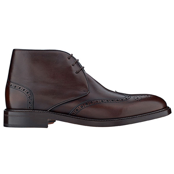The Tannery|Berwick|Ankle Boot|Brogue|991|Brogue Ankle Boot|Leather|Leather Sole|Gentleman|Menswear|Spanish|Brown|Side