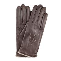 The Tannery|Cashmere Lined Stitched|leather gloves|ladies leather gloves|cashmere gloves|winter gloves|new|dark brown