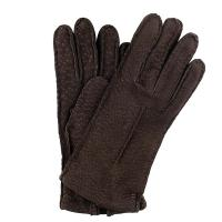 Pig Skin| Cashmere Lined|Gloves|Dark Brown|ladies gloves|new|ladies leather gloves|Italian leather|The Tannery