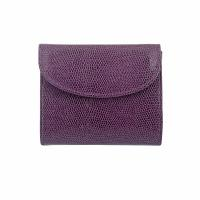 The Tannery|605|small folded purse|Italian leather|ladies purse|stamped leather|605|Viola|card case|