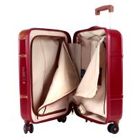 The tannery|Bric's|Bellagio|55cm|4Whl|Cabin|BBG08301|Red|Suitcase|Cabin sized|Trolley|4 Wheels|Luggage|Travel|Maxrolon|Polycarbonate|