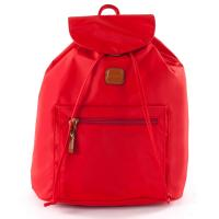 The Tannery|Bric's|X-Travel|Backpack|BXL30597|Red|Travel|Luggage|Lightweight|Italian|Bricola|Nylon|Vegetable tan leather|leather|polyamide|ladies|men|ladies backpack|mens backpack|