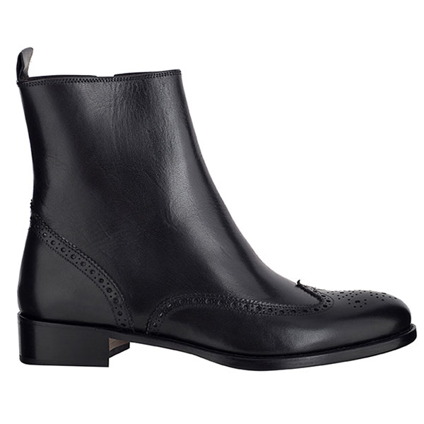 e8f11843a4aa1d Brogue Zip Ankle Boot Black ...