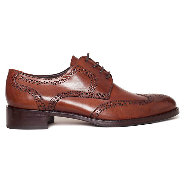 Ladies Brogue Lace Up Chestnut c816f97b8