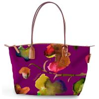 The Tannery|Roberta Pieri|Flower|Small Tote|Flower Tote|Robertina|Leather trims|Canvas|Ladies Small Tote|Shoulder Bag|Ladies Shoulder Bag|Dahlia|