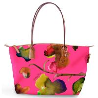 The Tannery|Roberta Pieri|Flower|Small Tote|Flower Tote|Paradise Pink|Leather trims|Canvas|Ladies Small Tote|Shoulder Bag|Ladies Shoulder Bag|