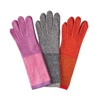 Angora|Striped|Long|Glove|Fan|AW20|