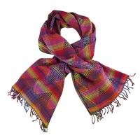 Kapre|Contemporary|Scarf|Blue/Multi|