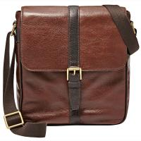 The Tannery|Fossil|Estate|NS|City|Messenger|NS City messenger|Satchel|Travel|Man Bag|Leather|Mens messenger bag|Crossbody bag|Dark Brown|