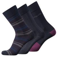 Bugatti|Men's|Socks|3Pkt|6280|Navy|
