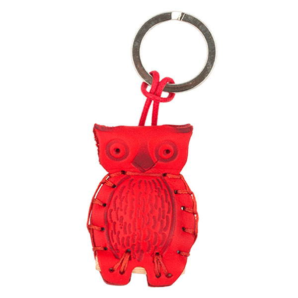 The Tannery|Owl|Keyring|P292|Red|