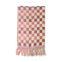 Silk Trading company|plain check|flat weave silk|ladies shawl|ladies scarf|ladies silk scarf|