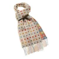 Bronte by Moon|Spot/Check|Beige|Multi|Scarf|