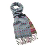 Bronte by Moon|Spot/Check|Teal|Multi|Scarf|