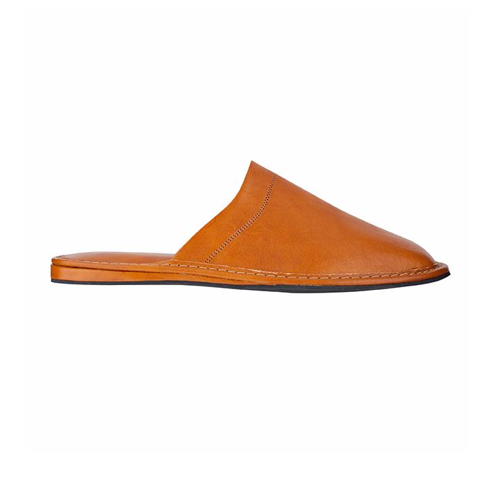 buy online cheap for discount sleek Toscano Tan Rubber Sole Slipper