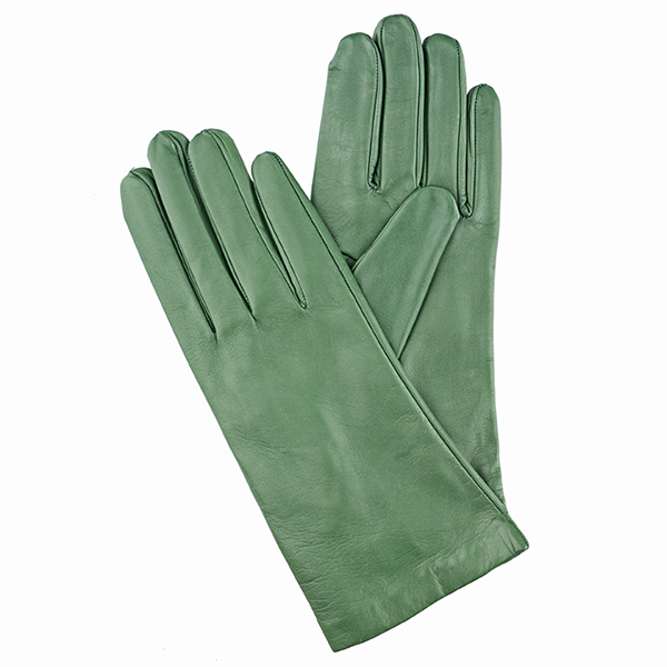 2e41d0126 The Tannery|silk lined|ladues gloves|Italain leather gloves|green leather