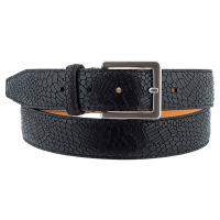 The Tannery|Antica|Leather|Stamped Croc|Stamped|Croc|Belt|Men's Belt|Men's Leather Belt|Gift Ideas|For Him|Gift for Him|3022|Black