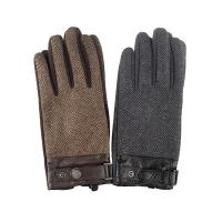 mens gloves|mens tweed gloves|mens new gloves|luxury mens wool gloves|leather trim|gifts for him|gifts for dad|The Tannery