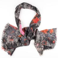 Kapre|Floral|Scarf|Orange/Red|
