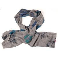 Kapre|Floral|Embroidery|Scarf|Blue/Grey|
