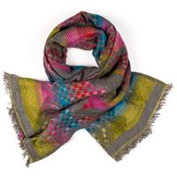 Kapre|KAP357|mix|square|scarf|ladies scarf|wool scarf|gifts for her|luxury