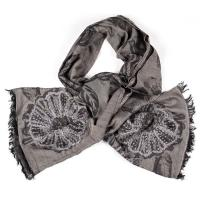 Kapre|KAP360|floral|embroidery|scarf|ladies scarf|wool|long|luxury|Gifts for her|Chrsitmas gifts|The Tannery