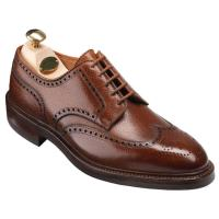 Crockett and Jones|The Tannery|Pembroke|Country Calf|Derby|Brogue|full Brogue|derby brogue|leather brogue|mens leather brogue shoe|english|english made|laced shoe|rubber sole|storm welted|dainite|dainite sole|