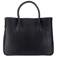 The Tannery|Handbag| D3068|full grain|leather|Grain leather|calf|ladies handbag|textured leather handbag|ladies|ladies day bag|day bag|Italian|Tannery collection|Black