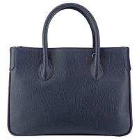 The Tannery|Handbag| D3068|full grain|leather|Grain leather|calf|ladies handbag|textured leather handbag|ladies|ladies day bag|day bag|Italian|Tannery collection|Navy