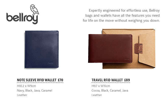 The Tannery|Brochure|SS19|Bellroy|Wallets|Page10|