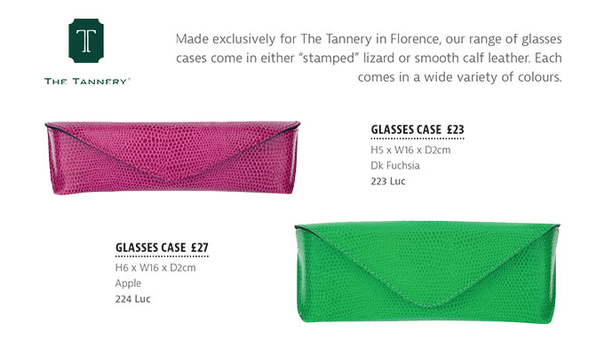 The Tannery|Brochure|SS19|Tannery Collection|Glasses Cases|AR Florence|
